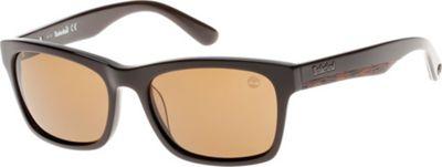 Timberland Eyewear Full Rim Sunglasses Shiny Dark Brown - Timberland Eyewear Sunglasses