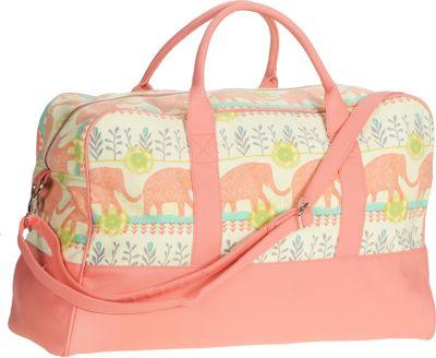 Capri Designs Sarah Watts Weekender By Capri Designs Elephant - Capri Designs Travel Duffels
