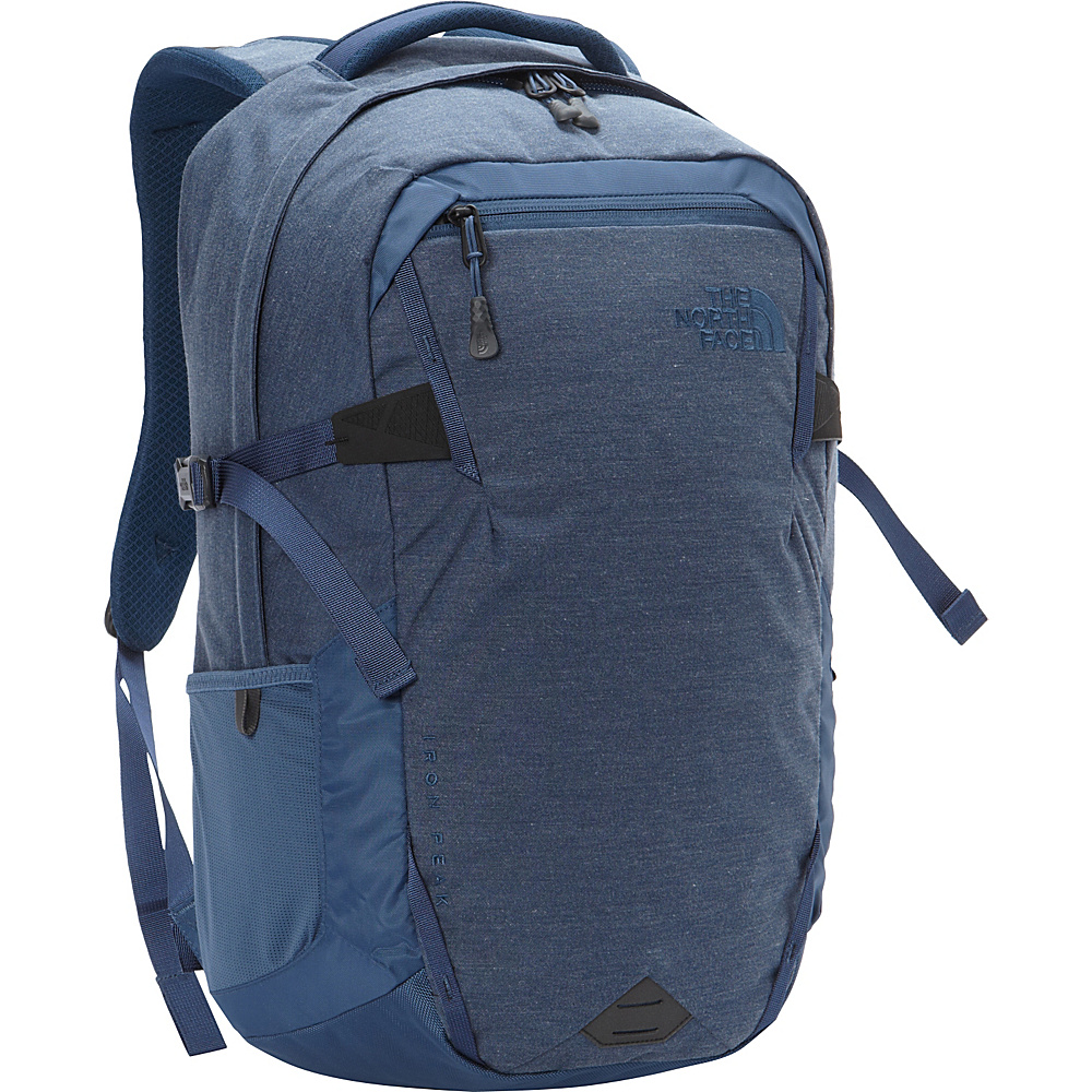 The North Face Iron Peak Laptop Backpack Shady Blue Heather Shady Blue The North Face Business Laptop Backpacks