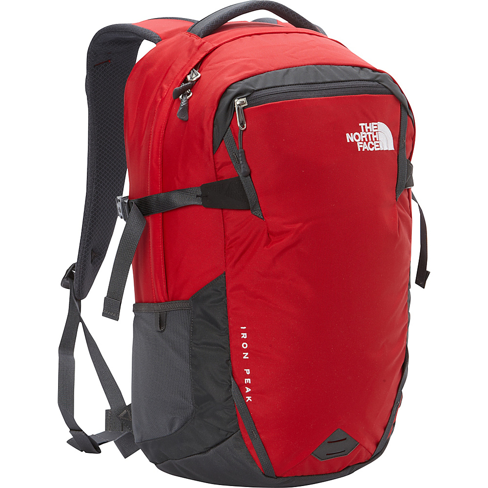The North Face Iron Peak Laptop Backpack TNF Red Asphalt Grey The North Face Business Laptop Backpacks