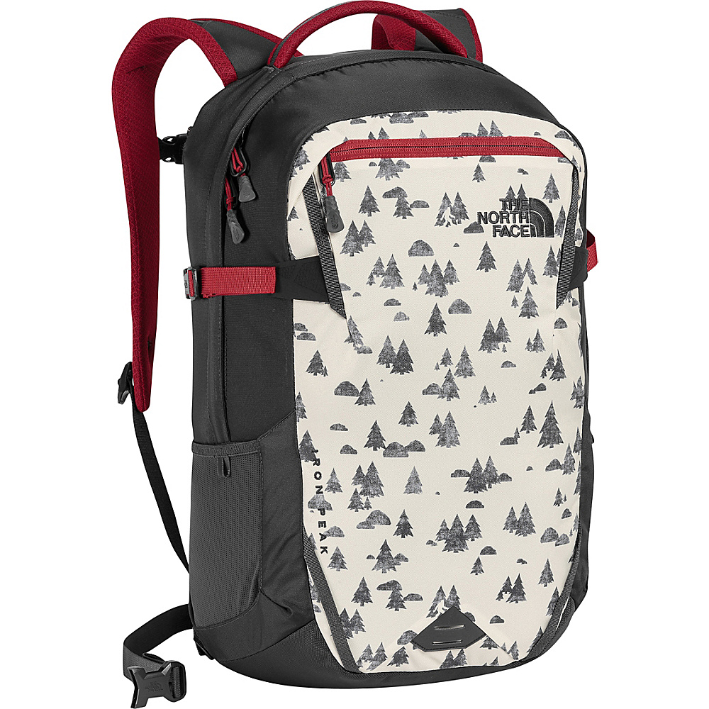 The North Face Iron Peak Laptop Backpack Vintage White Sasquatch Print/Cardinal Red - The North Face Business & Laptop Backpacks - Backpacks, Business & Laptop Backpacks