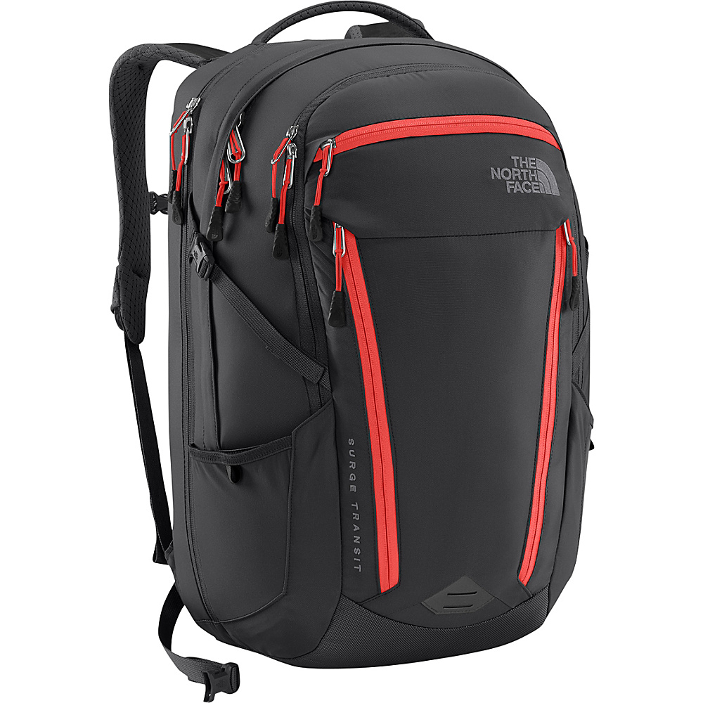 The North Face Womens Surge Transit Laptop Backpack Graphite Grey/Cayenne Red - The North Face Business & Laptop Backpacks - Backpacks, Business & Laptop Backpacks