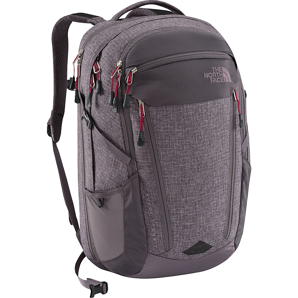 The North Face Womens Surge Transit Laptop Backpack Rabbit Grey Heather/Cerise Pink - The North Face Business & Laptop Backpacks - Backpacks, Business & Laptop Backpacks