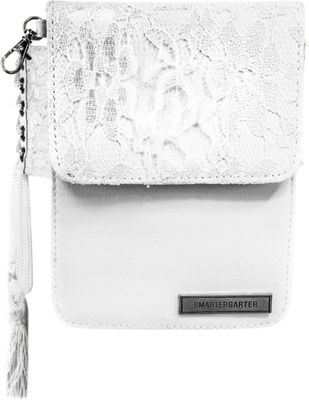 SmarterGarter Chantilly Hands-Free Purse 3.0 White Lace - One Size Fits All - SmarterGarter Waist Packs