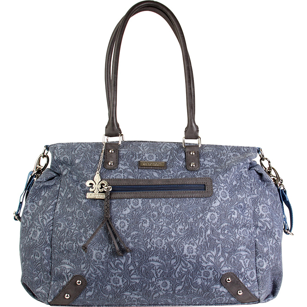 Kalencom Paris Diaper Tote Bag Denim Paisley - Kalencom Diaper Bags & Accessories