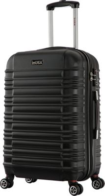 inUSA New York Collection 28 inch  Lightweight Hardside Spinner Suitcase Black - inUSA Hardside Checked