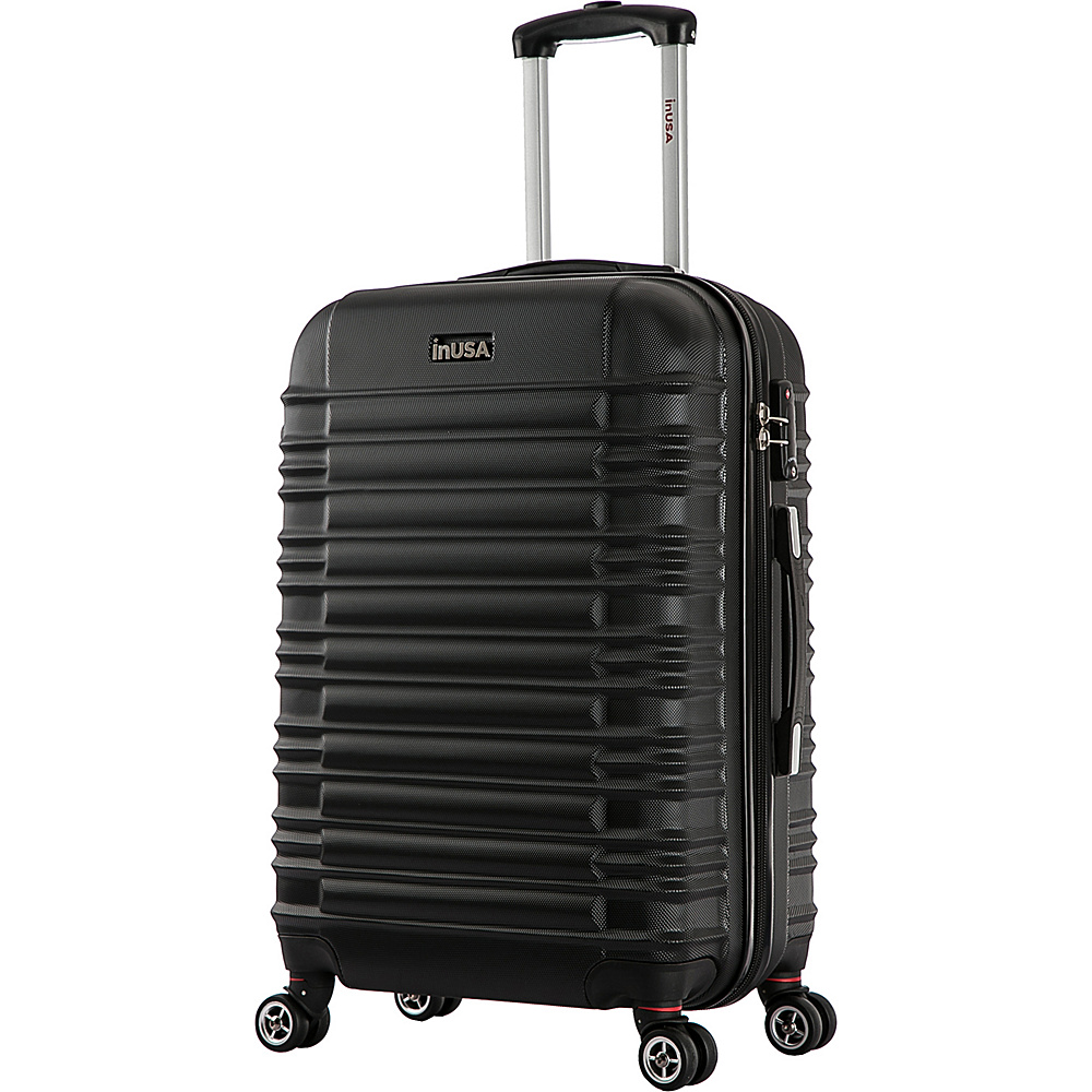 inUSA New York Collection 28 Lightweight Hardside Spinner Suitcase Black inUSA Hardside Checked