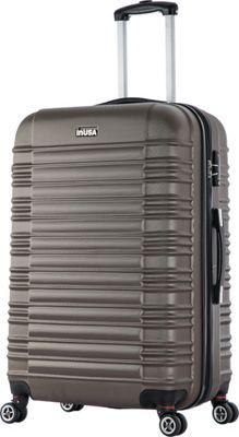 inUSA New York Collection 28 inch  Lightweight Hardside Spinner Suitcase Brown - inUSA Hardside Checked