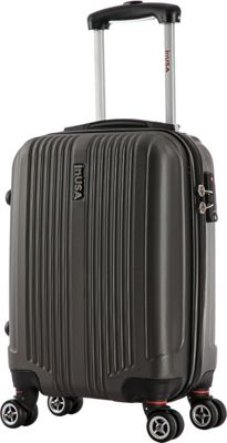 inUSA San Francisco 18 inch Carry-on Lightweight Hardside Spinner Suitcase Charcoal - inUSA Hardside Carry-On