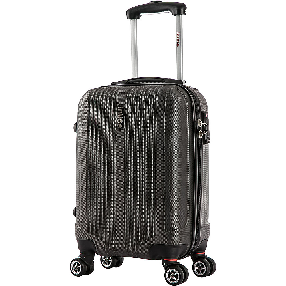 inUSA San Francisco 18 Carry on Lightweight Hardside Spinner Suitcase Charcoal inUSA Hardside Carry On