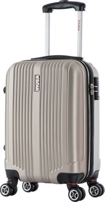 inUSA San Francisco 18 inch Carry-on Lightweight Hardside Spinner Suitcase Champagne - inUSA Hardside Carry-On
