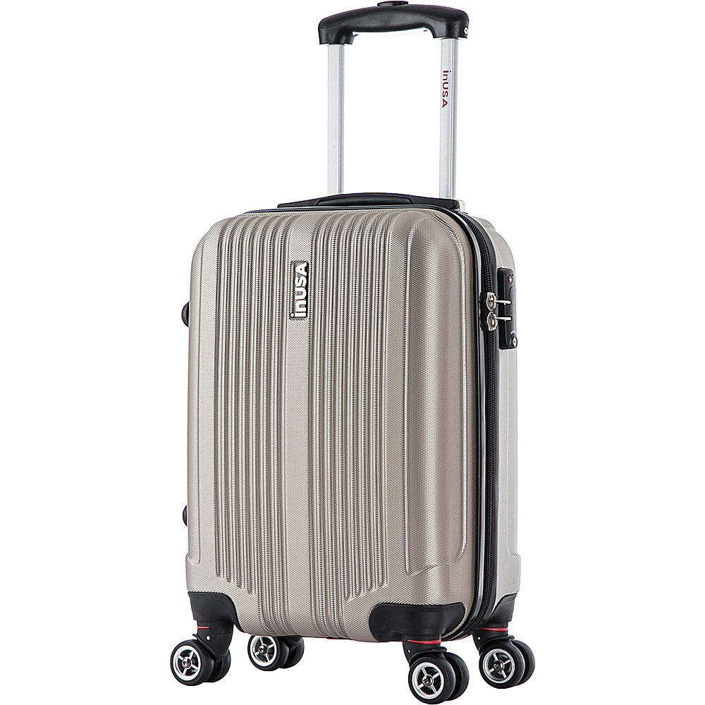 inUSA San Francisco 18 Carry on Lightweight Hardside Spinner Suitcase Champagne inUSA Hardside Carry On