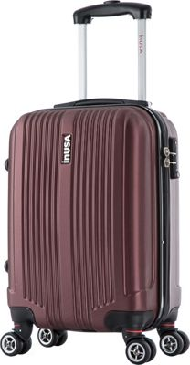 inUSA San Francisco 18 inch Carry-on Lightweight Hardside Spinner Suitcase Wine - inUSA Hardside Carry-On