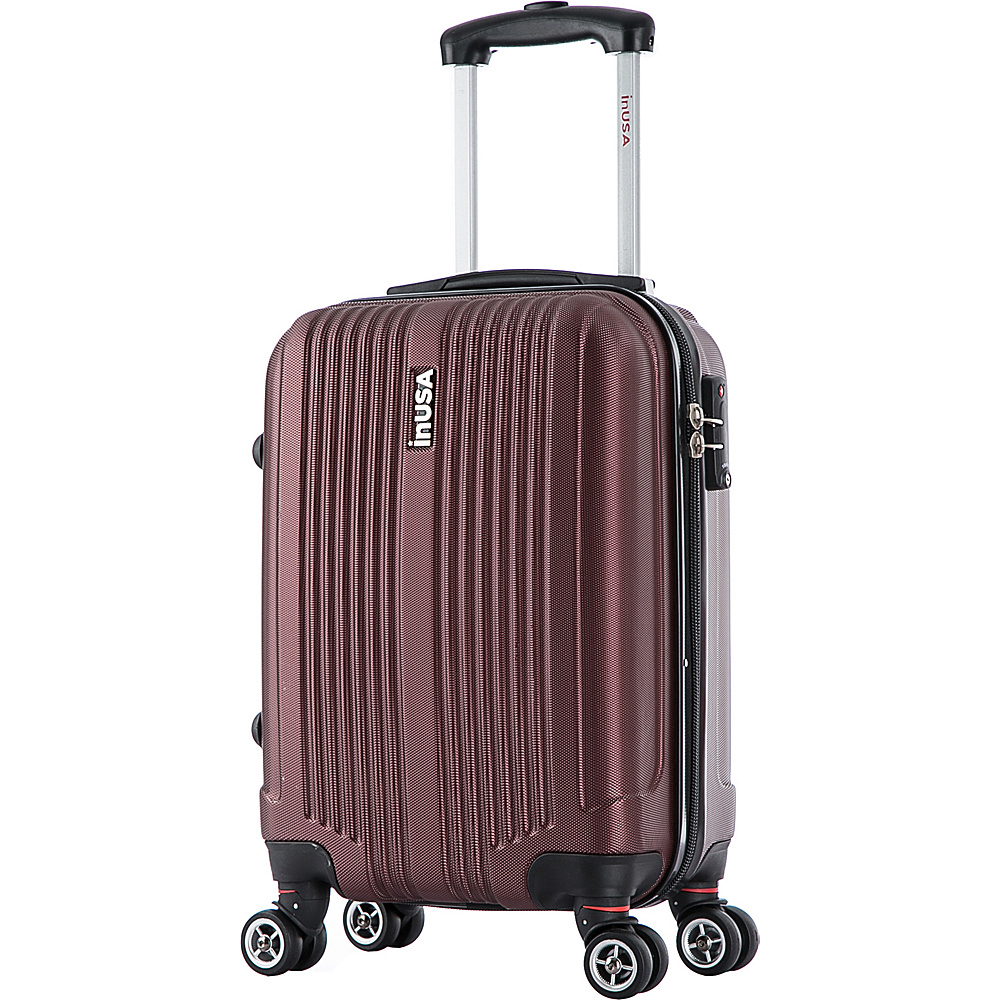 inUSA San Francisco 18 Carry on Lightweight Hardside Spinner Suitcase Wine inUSA Hardside Carry On