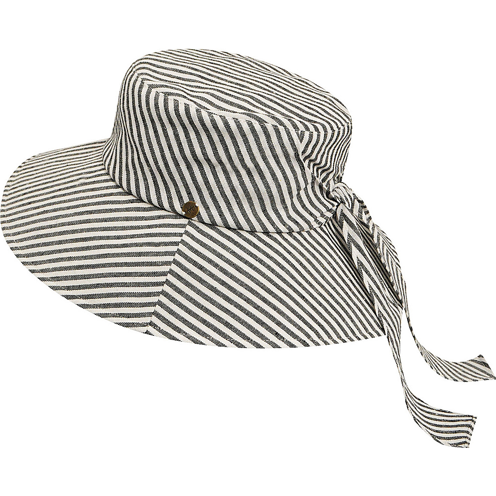 Karen Kane Hats Sun Floppy Hat Navy Stripe Karen Kane Hats Hats Gloves Scarves