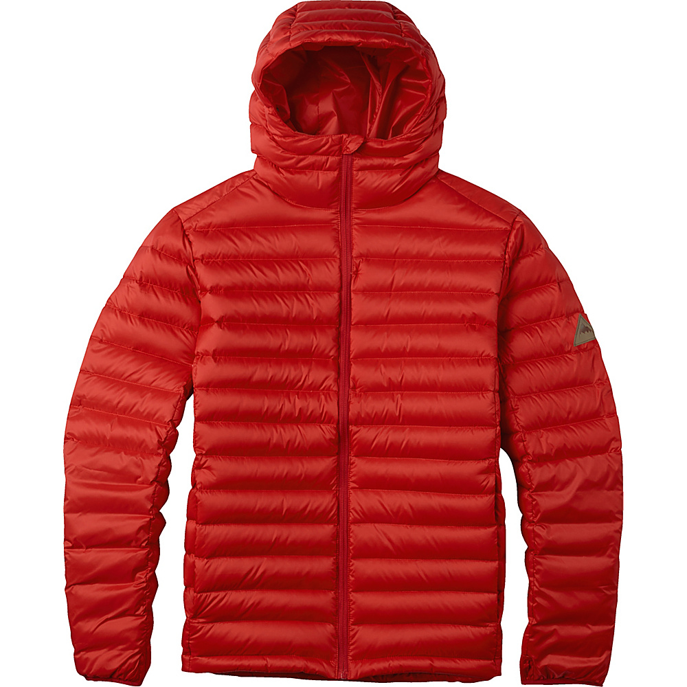 Burton Mens Evergreen Hooded Down Insulator S Process Red Burton Men s Apparel
