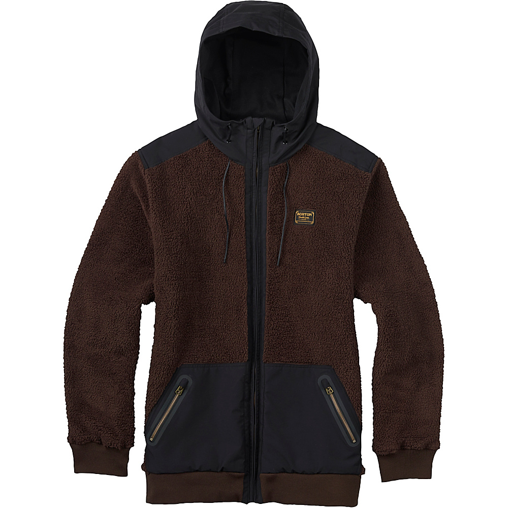 Burton Mens Tribute Full Zip Fleece S Mocha Burton Men s Apparel