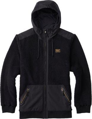 Burton Mens Tribute Full-Zip Fleece XL - True Black - Burton Men's Apparel