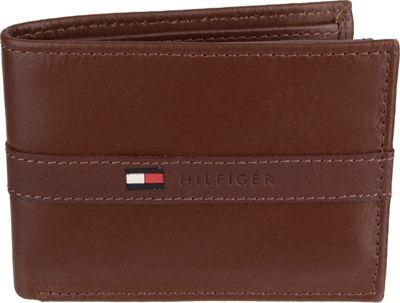 Tommy Hilfiger Accessories Ranger Passcase Wallet Tan - Tommy Hilfiger Accessories Men's Wallets
