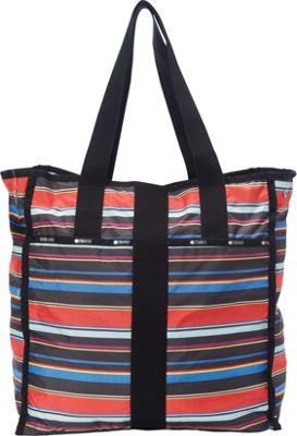 LeSportsac Large City Tote Ribbon Stripe C - LeSportsac Fabric Handbags