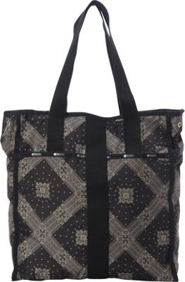 LeSportsac Large City Tote Star Guides Black C - LeSportsac Fabric Handbags