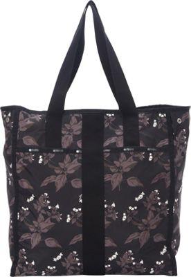 LeSportsac Large City Tote Botanical Black C - LeSportsac Fabric Handbags