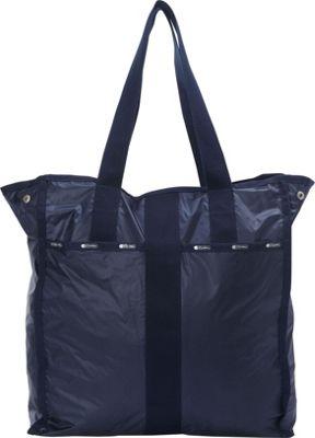 LeSportsac Large City Tote Classic Navy C - LeSportsac Fabric Handbags