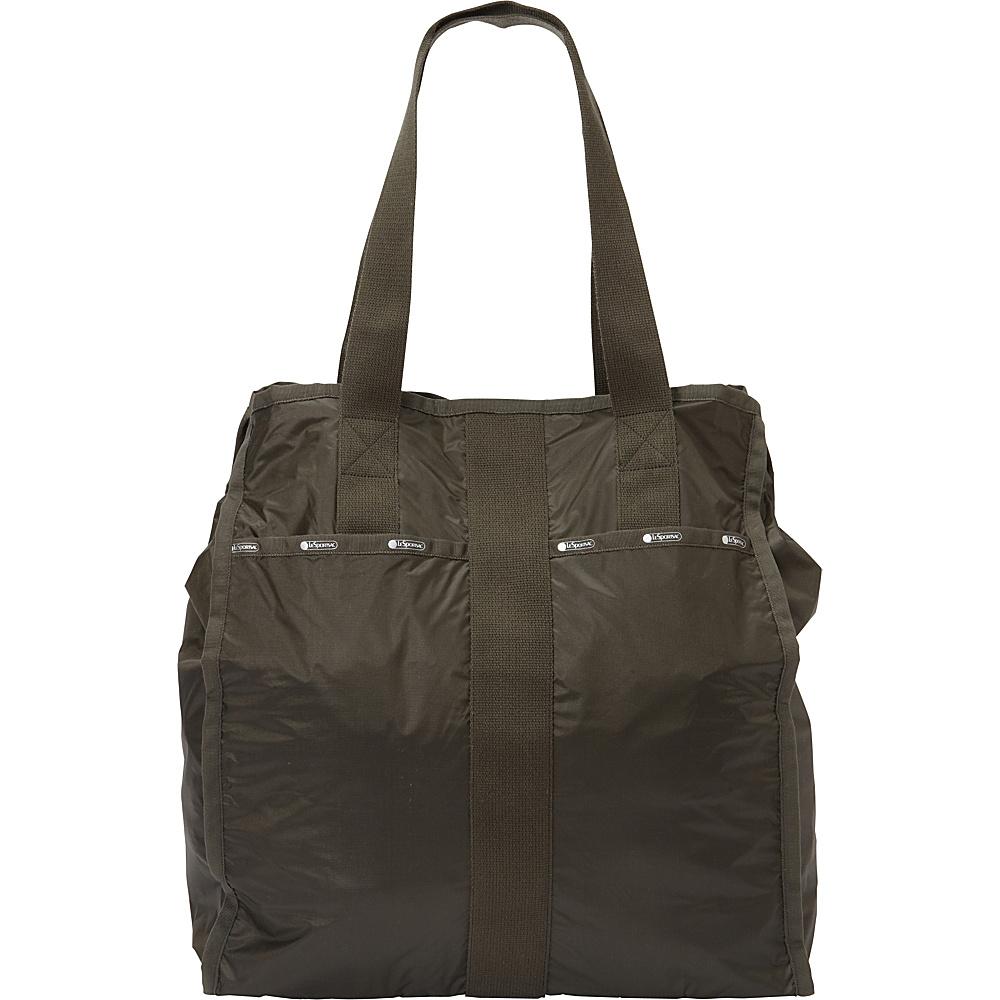 LeSportsac Large City Tote Gravel C LeSportsac Fabric Handbags