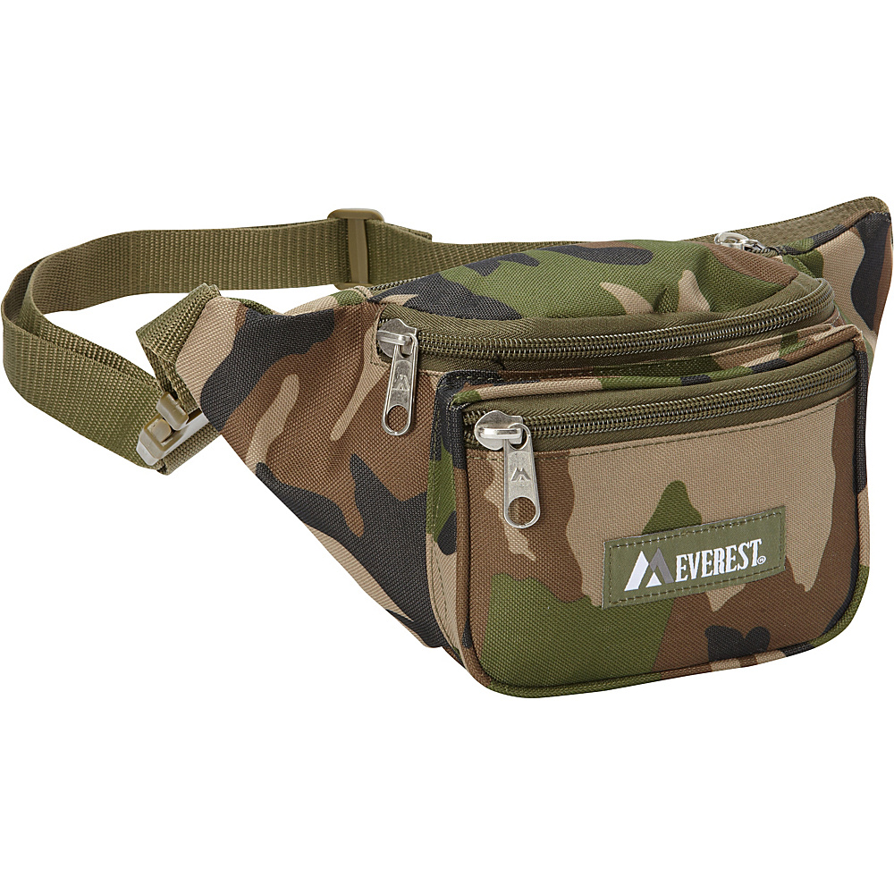Everest Woodland Camo Waist Pack Jungle Camo - Everest Waist Packs - Backpacks, Waist Packs