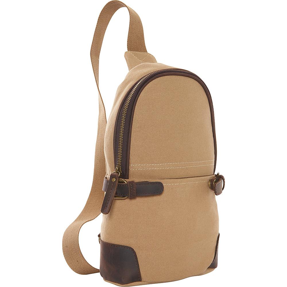 Vagabond Traveler Simple Canvas Chest Pack Khaki - Vagabond Traveler Waist Packs - Backpacks, Waist Packs
