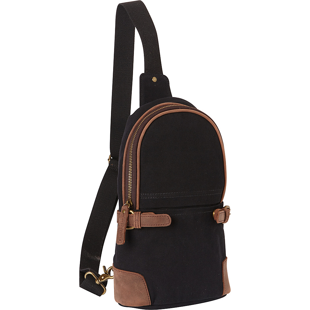 Vagabond Traveler Simple Canvas Chest Pack Black - Vagabond Traveler Waist Packs - Backpacks, Waist Packs