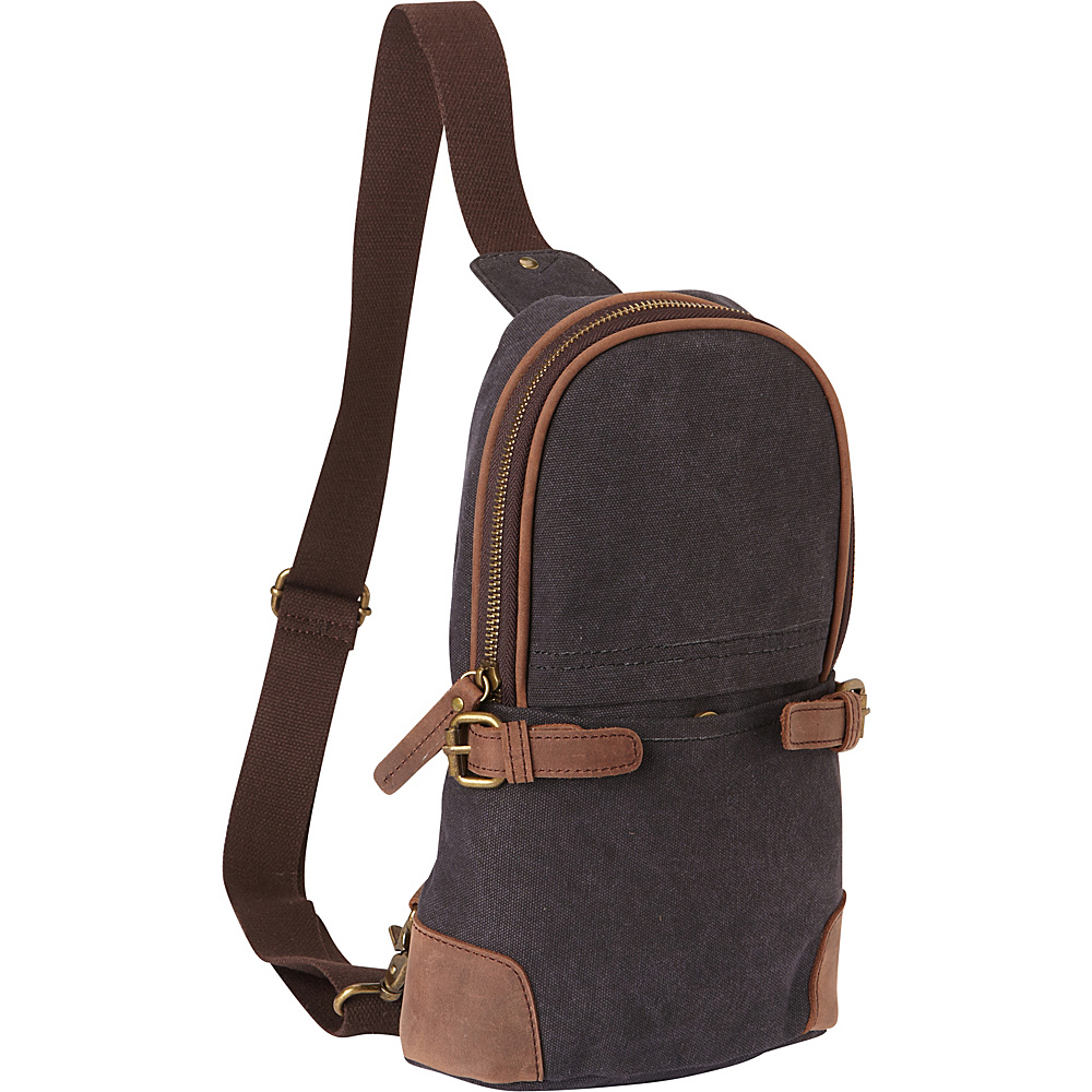 Vagabond Traveler Simple Canvas Chest Pack Grey - Vagabond Traveler Waist Packs - Backpacks, Waist Packs