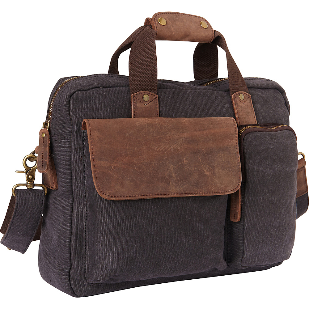 Vagabond Traveler Canvas 14 Laptop Messenger Bag- eBags Exclusive Grey - Vagabond Traveler Messenger Bags - Work Bags & Briefcases, Messenger Bags