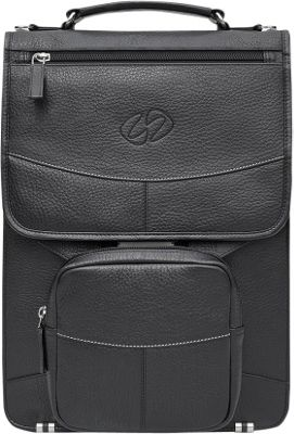 MacCase Premium Leather Briefcase Briefcase Black - MacCase Non-Wheeled Business Cases