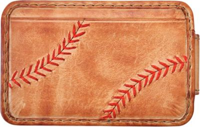 Rawlings Baseball Stitch Front Pocket Wallet Tan - Rawlings Men's Wallets