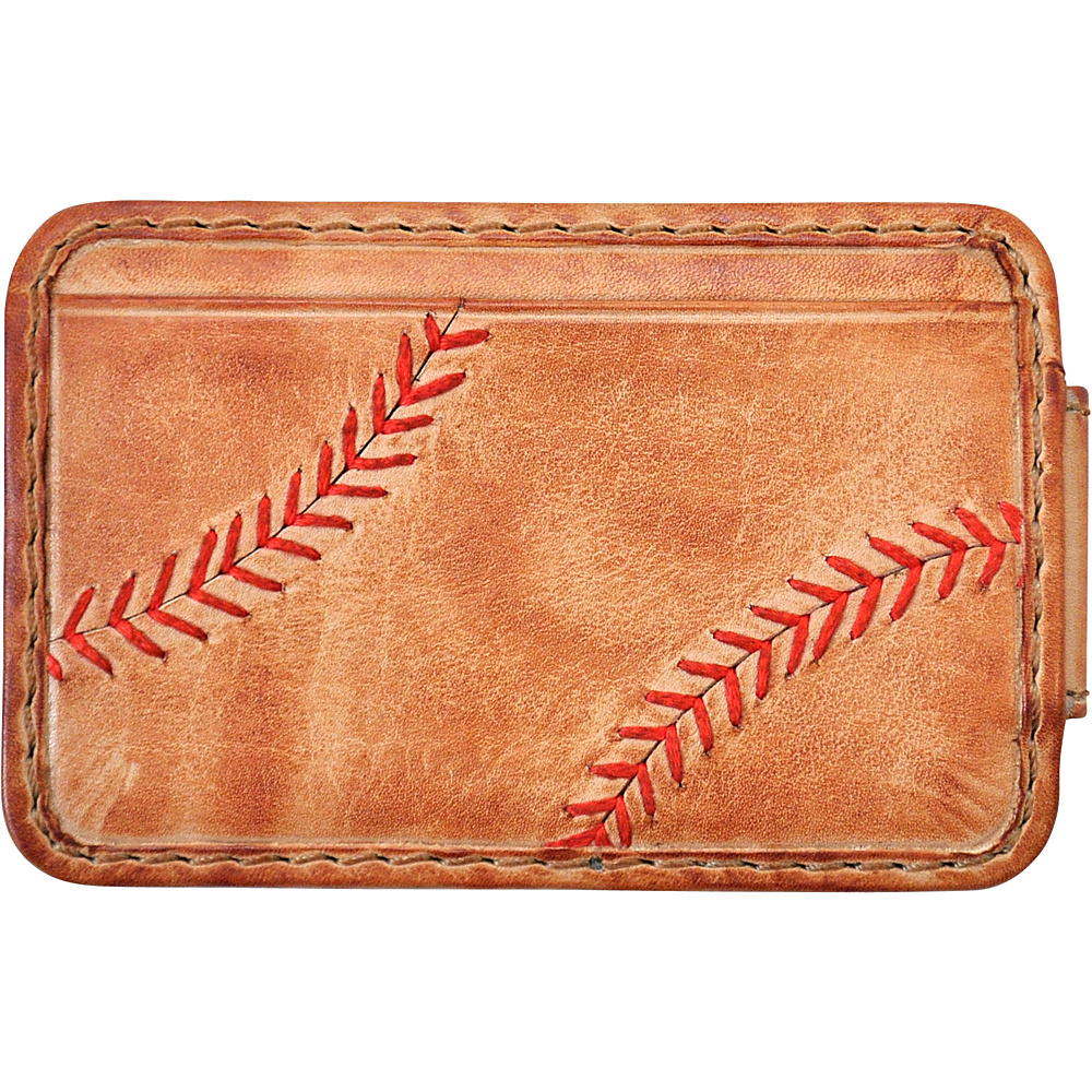 Rawlings Baseball Stitch Front Pocket Wallet Tan Rawlings Men s Wallets
