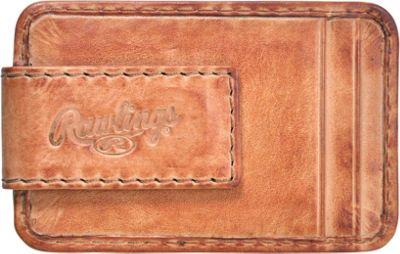 Rawlings Baseball Stitch Front Pocket Wallet Tan - Rawlings Men's Wallets