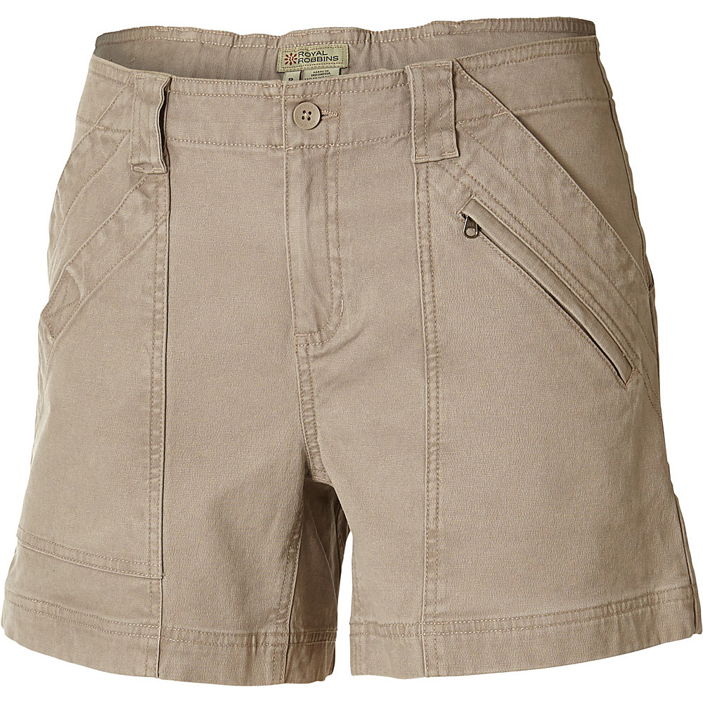 Royal Robbins Womens Backcountry Canvas Billy Goat Shorts 14 Khaki Royal Robbins Women s Apparel