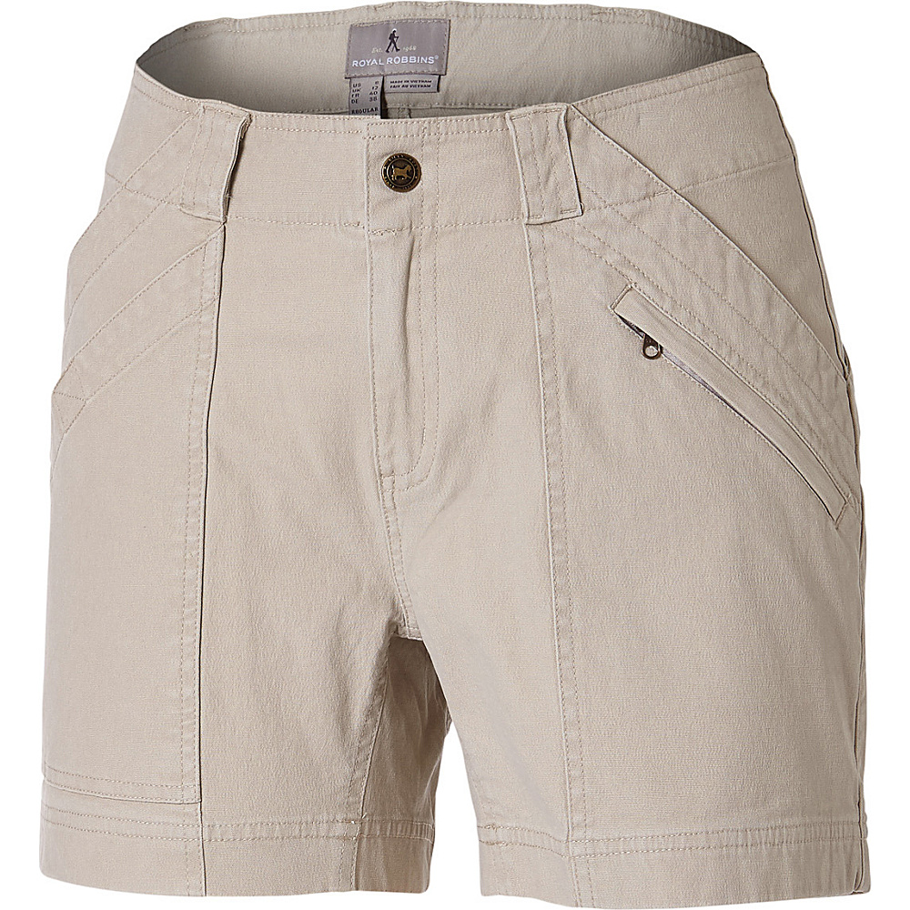 Royal Robbins Womens Backcountry Canvas Billy Goat Shorts 6 - 5in - Sandstone - Royal Robbins Womens Apparel - Apparel & Footwear, Women's Apparel