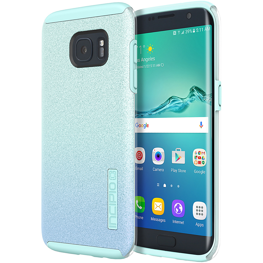 Incipio Design Series DualPro Glitter for Samsung Galaxy S7 Edge Turquoise - Incipio Electronic Cases - Technology, Electronic Cases