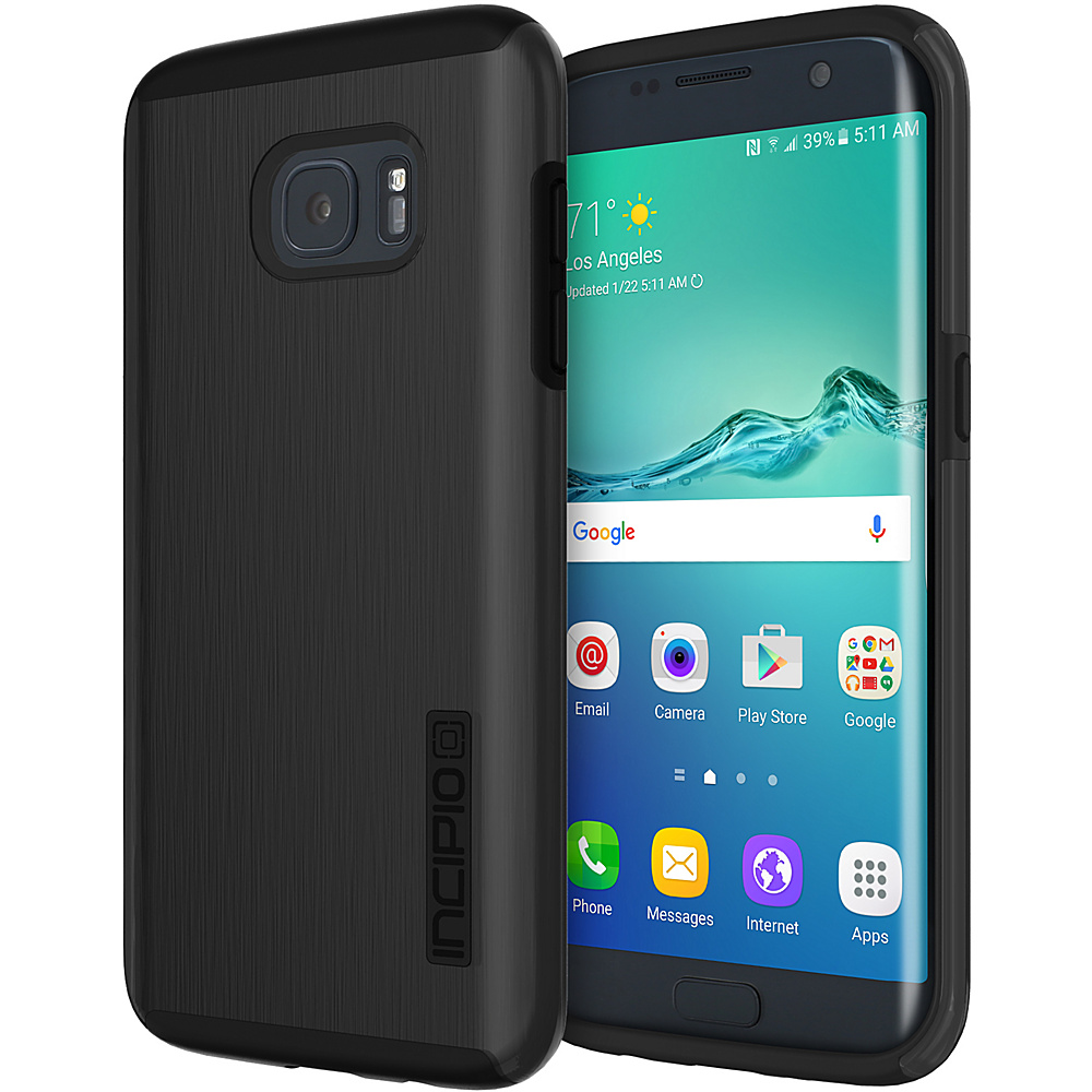Incipio DualPro Shine for Samsung Galaxy S7 Edge Black/Black - Incipio Electronic Cases - Technology, Electronic Cases