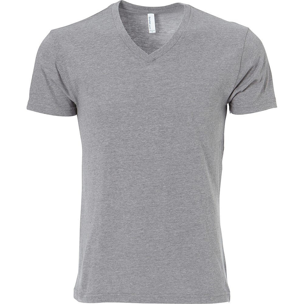 Simplex Apparel CVC Mens V Tee M - Dark Heather Grey - Simplex Apparel Mens Apparel - Apparel & Footwear, Men's Apparel