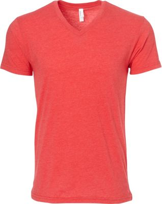 Simplex Apparel CVC Mens V Tee S - Red - Simplex Apparel Men's Apparel