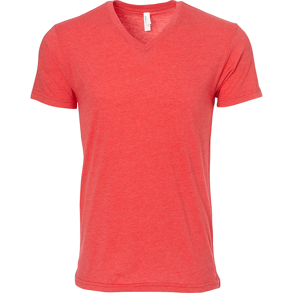 Simplex Apparel CVC Mens V Tee S - Red - Simplex Apparel Mens Apparel - Apparel & Footwear, Men's Apparel