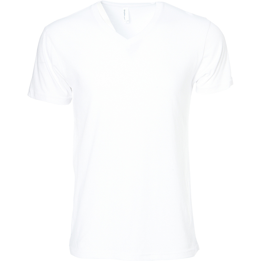 Simplex Apparel CVC Mens V Tee XL - White - Simplex Apparel Mens Apparel - Apparel & Footwear, Men's Apparel