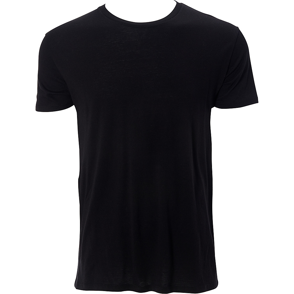 Simplex Apparel Modal Mens Crew Tee XL - Black - Simplex Apparel Mens Apparel - Apparel & Footwear, Men's Apparel