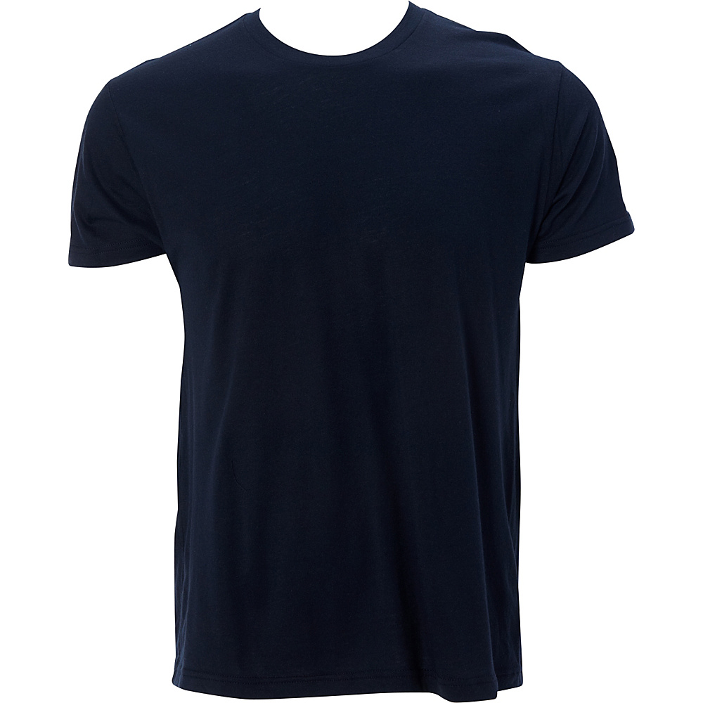 Simplex Apparel Modal Mens Crew Tee L - Navy - Simplex Apparel Mens Apparel - Apparel & Footwear, Men's Apparel
