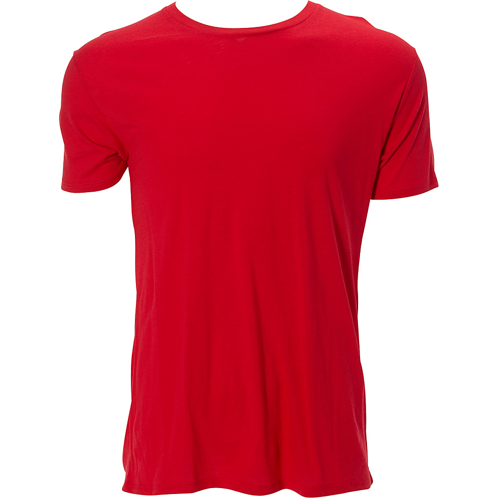Simplex Apparel Modal Mens Crew Tee S - Red - Simplex Apparel Mens Apparel - Apparel & Footwear, Men's Apparel