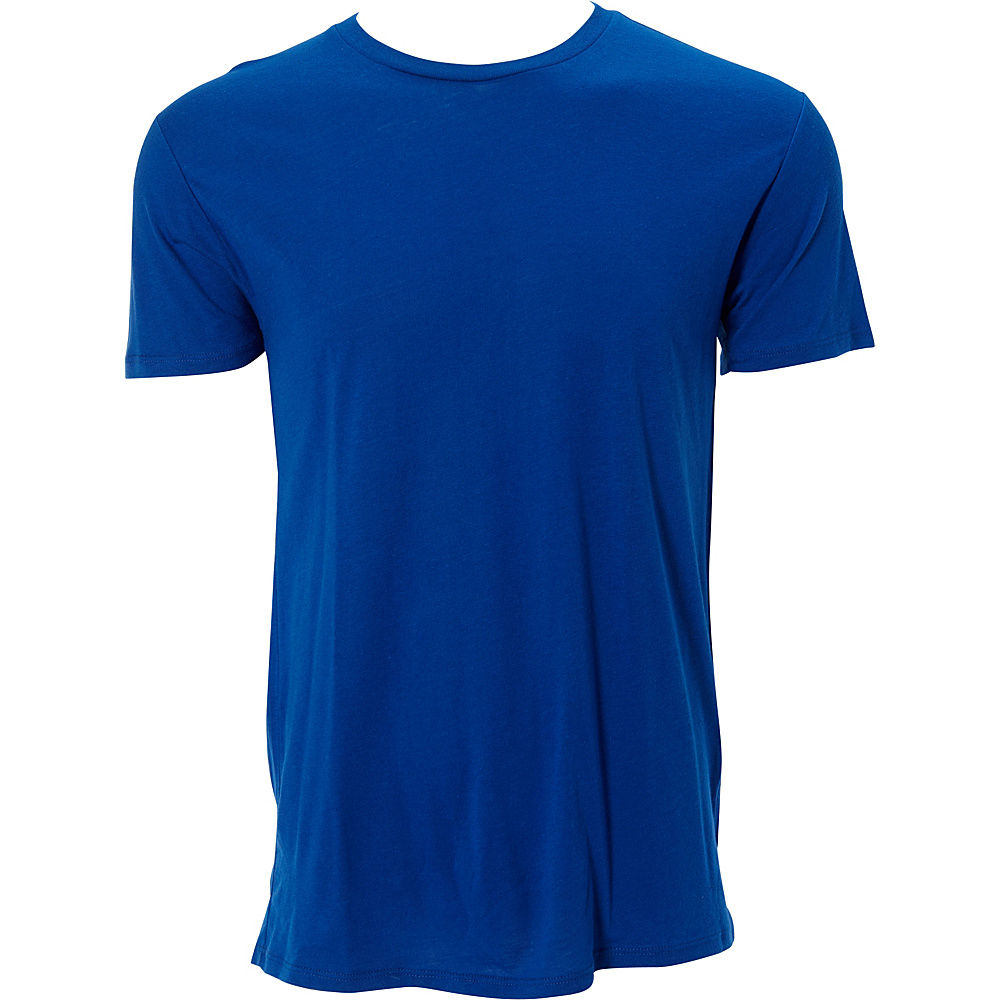 Simplex Apparel Modal Mens Crew Tee M - Royal - Simplex Apparel Mens Apparel - Apparel & Footwear, Men's Apparel