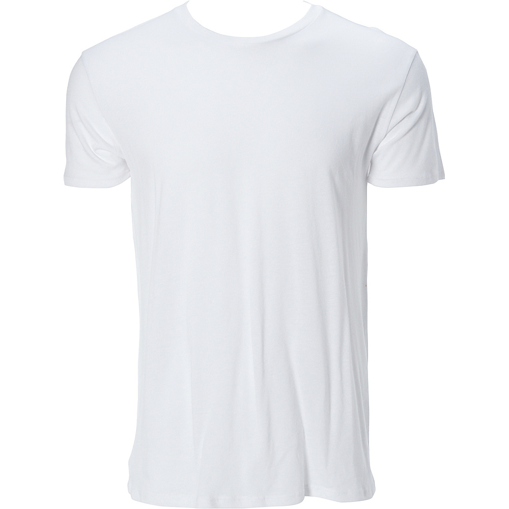 Simplex Apparel Modal Mens Crew Tee L - White - Simplex Apparel Mens Apparel - Apparel & Footwear, Men's Apparel